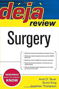 Book Cover: Deja Review of Surgery 1st Edition